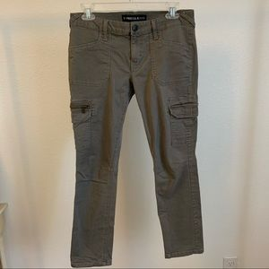 Express Jeans Ankle Gray Skinny Jeans